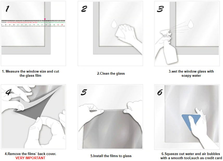 3D Rainbow Effect Window Film Installation Instructions